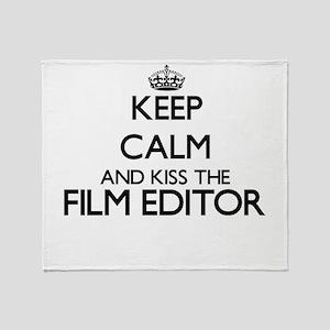 Keep calm and kiss the Film Editor Throw Blanket