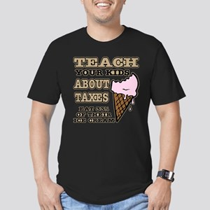 Teach Kids About Taxes Men's Fitted T-Shirt (dark)