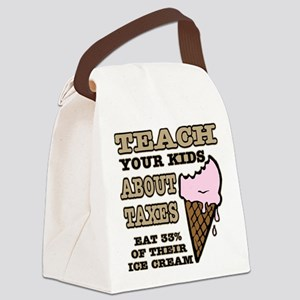 Teach Kids About Taxes Canvas Lunch Bag