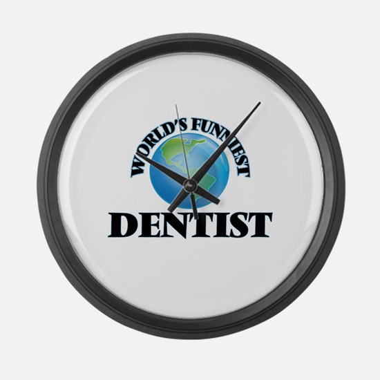 World's Funniest Dentist Large Wall Clock