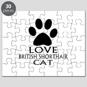 Love British Shorthair Cat Designs Puzzle