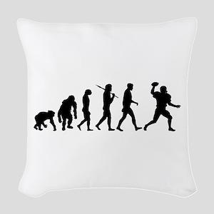 Evolution of Football Woven Throw Pillow