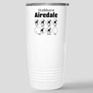 Stubborn Airedale v2 Stainless Steel Travel Mug