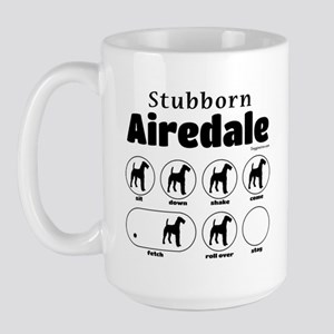 Stubborn Airedale v2 Large Mug