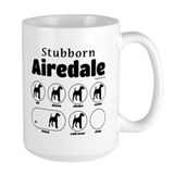 Airedale terrier Large Mugs (15 oz)