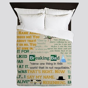 Walter Quotes - Breaking Bad Queen Duvet