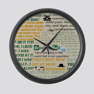 Walter Quotes - Breaking Bad Large Wall Clock