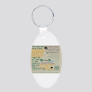 Walter Quotes - Breaking Ba Aluminum Oval Keychain