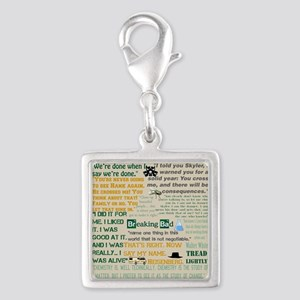 Walter Quotes - Breaking Bad Silver Square Charm