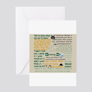 Walter Quotes - Breaking Bad Greeting Card
