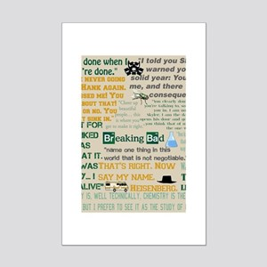 Walter Quotes - Breaking Bad Mini Poster Print