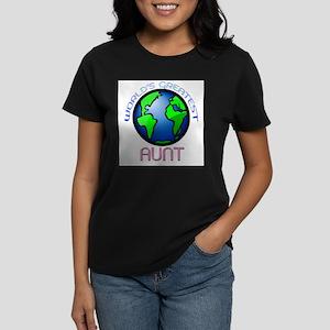 Worldd's Greatest Aunt Women's Dark T-Shirt