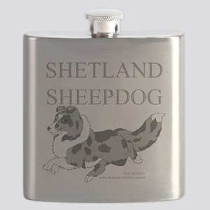 Bi-Blue Sheltie Flask