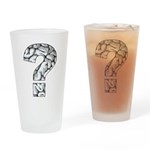 Brainy Question Drinking Glass