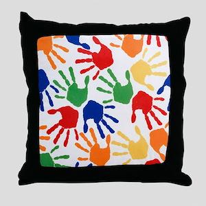 Kids Handprint Throw Pillow