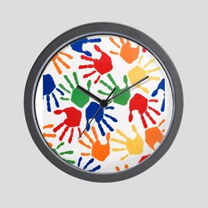 Kids Handprint Wall Clock