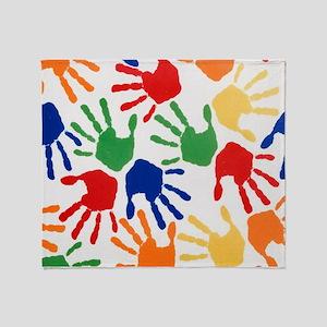 Kids Handprint Throw Blanket