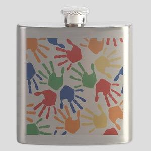 Kids Handprint Flask