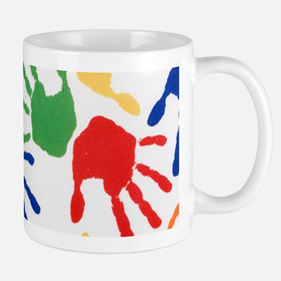 Kids Handprint Mugs