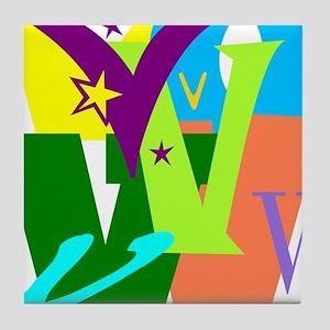 Initial Design (V) Tile Coaster