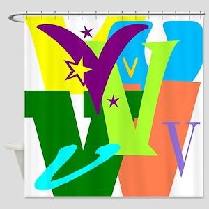 Initial Design (V) Shower Curtain