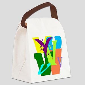 Initial Design (V) Canvas Lunch Bag