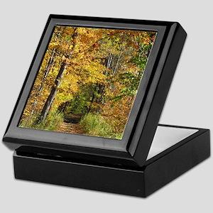 Autumn Trail Scenery Keepsake Box