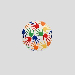 Kids Handprint Mini Button