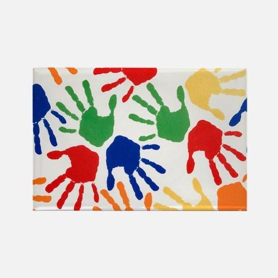 Kids Handprint Magnets