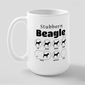 Stubborn Beagle v2 Large Mug