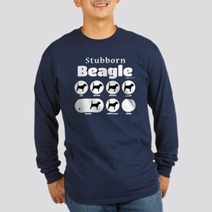 Stubborn Beagle v2 Long Sleeve Dark T-Shirt
