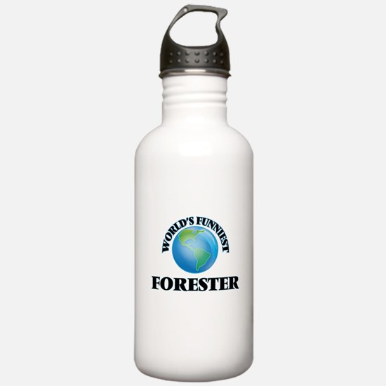World's Funniest Fores Water Bottle