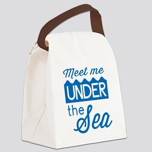 Meet Me Under the Sea Canvas Lunch Bag