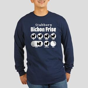 Stubborn Bichon v2 Long Sleeve Dark T-Shirt