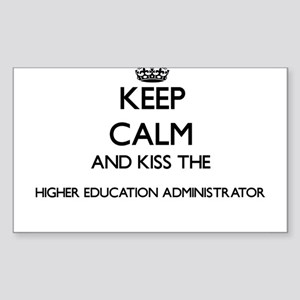 Keep calm and kiss the Higher Education Ad Sticker