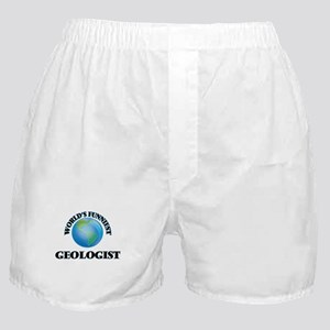 World's Funniest Geologist Boxer Shorts