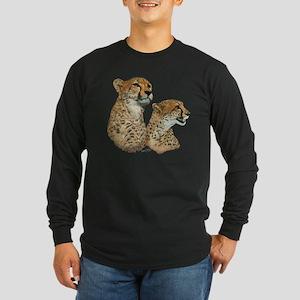 Cheetah Long Sleeve Dark T-Shirt