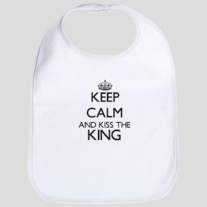 Keep calm and kiss the King Bib