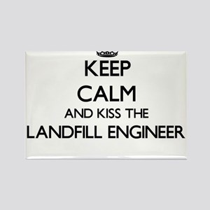 Keep calm and kiss the Landfill Engineer Magnets