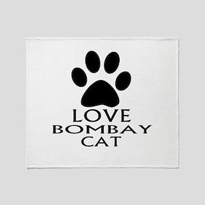 Love Bombay Cat Designs Throw Blanket