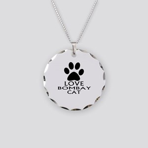 Love Bombay Cat Designs Necklace Circle Charm