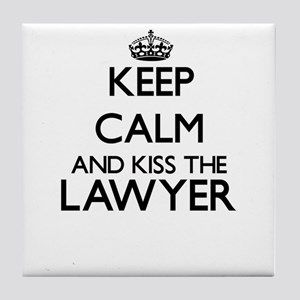 Keep calm and kiss the Lawyer Tile Coaster
