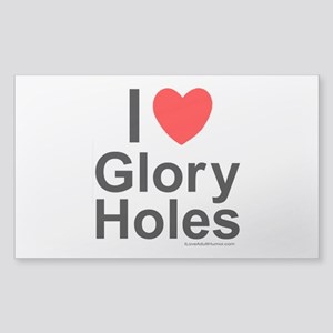Glory Holes Sticker (Rectangle)