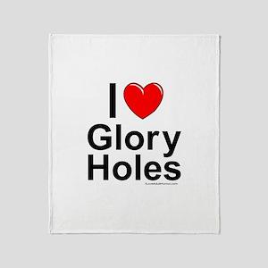 Glory Holes Throw Blanket