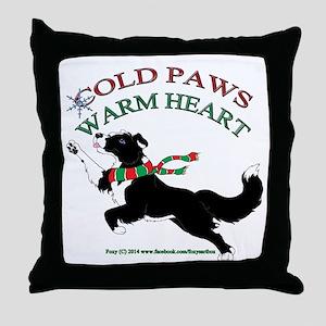 Holiday Paws Border Collie Split Throw Pillow