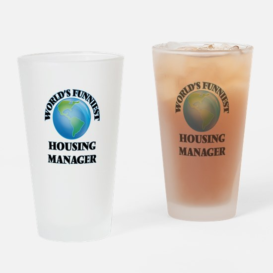 World's Funniest Housing Manager Drinking Glass