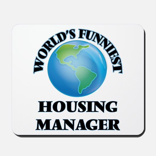 World's Funniest Housing Manager Mousepad