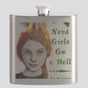 nerd girls go 2 hell Flask