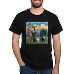 StFrancis-Lab & Sheltie Dark T-Shirt