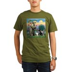 StFrancis-Lab & Shelt Organic Men's T-Shirt (dark)